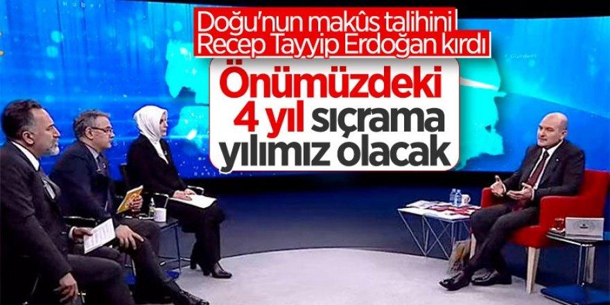 Süleyman Soylu: Doğu'nun makus talihini Erdoğan kırdı