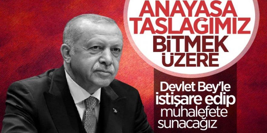 Cumhurbaşkanı Erdoğan: Yeni anayasa taslağımız bitmek üzere