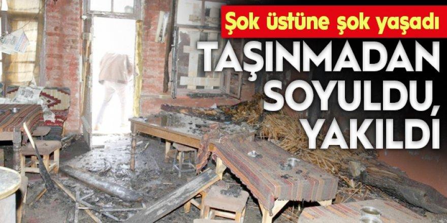 Erzurum'da İş yeri yandı zannetti, gerçek daha acı çıktı