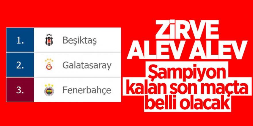 Süper Lig'de zirve yarışı ve son haftanın programı