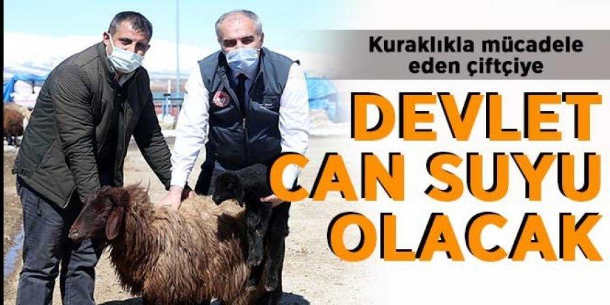 Erzurum çiftçisine destek