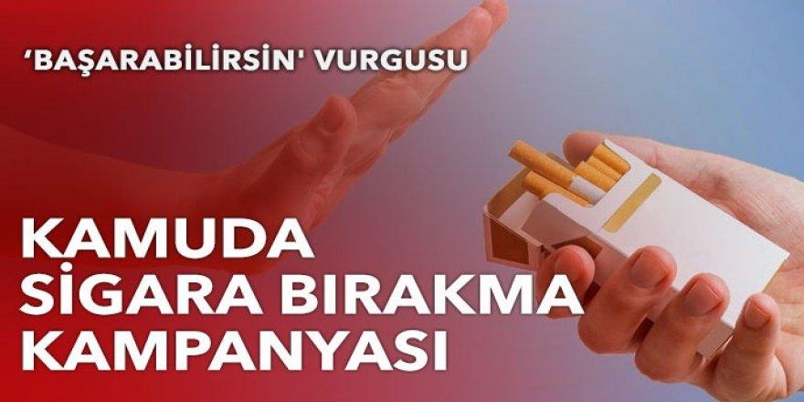 Kamuda 'sigara bırakma' kampanyası