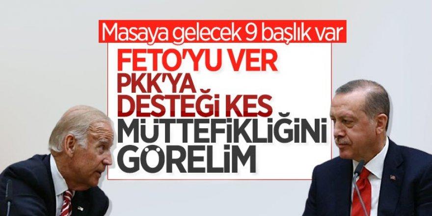 Cumhurbaşkanı Erdoğan ile Joe Biden, 9 kritik konuyu görüşecek