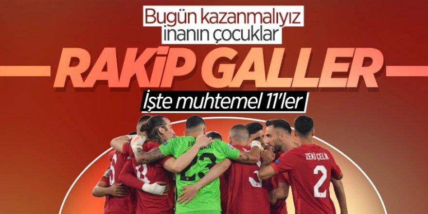 Türkiye-Galler maçı muhtemel 11'leri