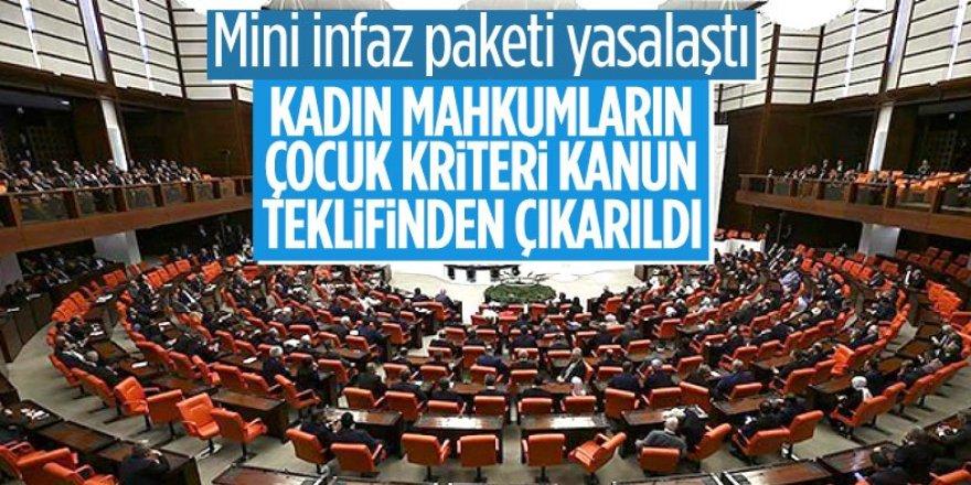 Mini infaz paketi Meclis'te kabul edildi