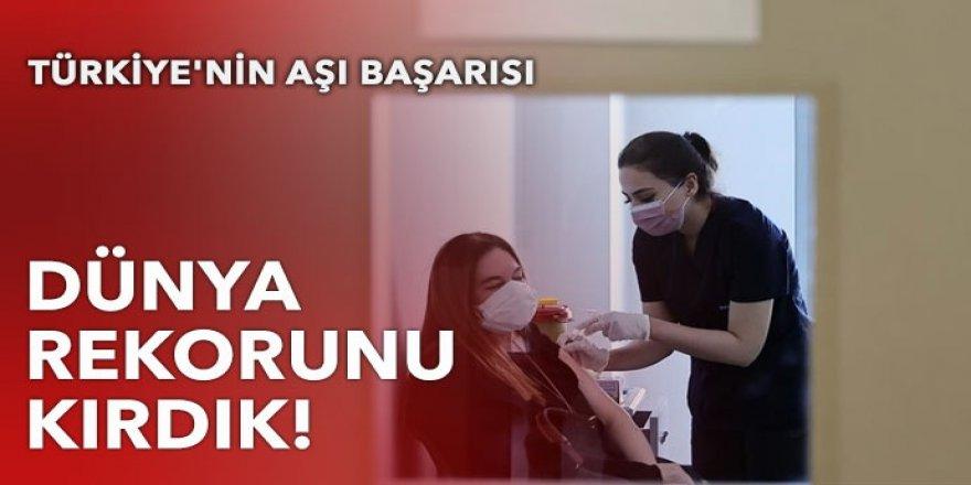 Türkiye'nin aşı başarısı: Dünya rekorunu kırdık!