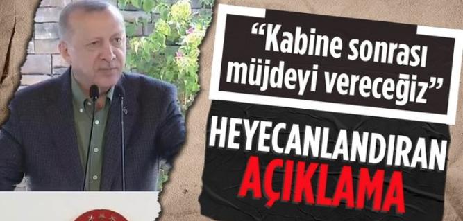 Cumhurbaşkanı Erdoğan'dan turizm sektörüne müjdeli haber