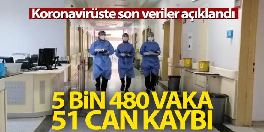 Türkiye'de son 24 saatte 5.480 koronavirüs vakası tespit edildi