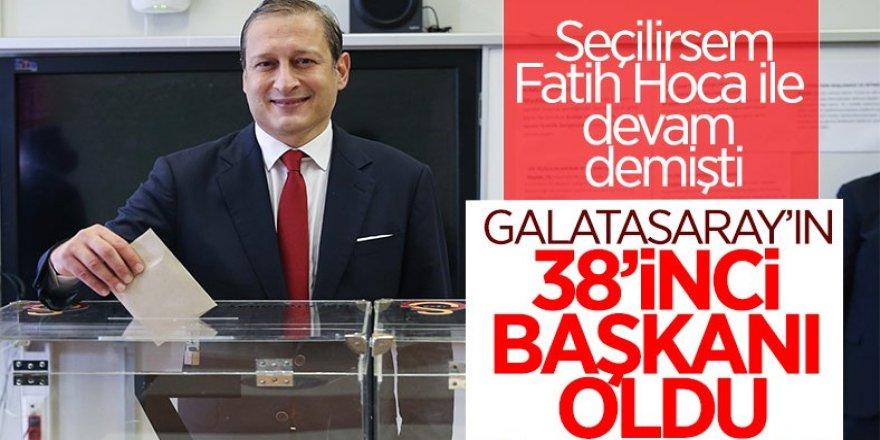 Galatasaray'ın 38. başkanı Burak Elmas oldu
