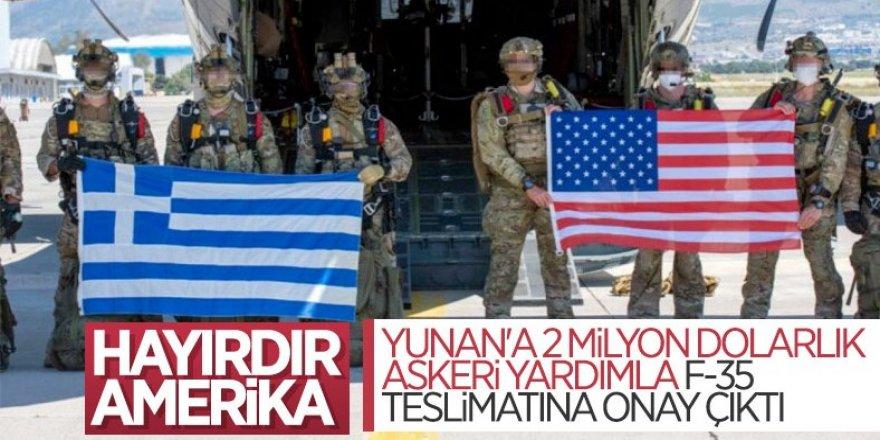 ABD'den, Yunanistan'a askeri yardıma onay