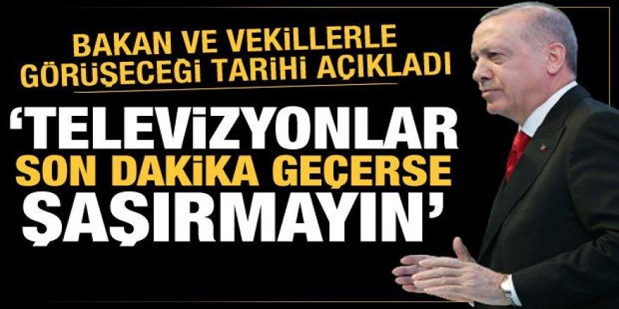 Erdoğan milletvekili ve bakanlarla görüşecek