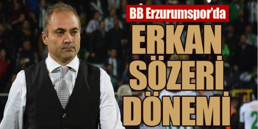 BB Erzurumspor'da Erkan Sözeri dönemi başladı