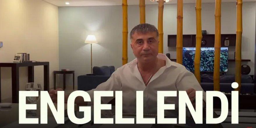 Sedat Peker'in sosyal medya hesaplarına erişim engeli getirildi
