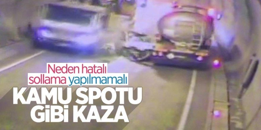 Erzurum'a geliyordu...Artvin'de tünelde kaza yapan araç, paramparça oldu