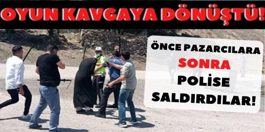 Erzurum'da Taş oyunu, taşlı kavgaya dönüştü! Yabancılar iyice arsızlaştı
