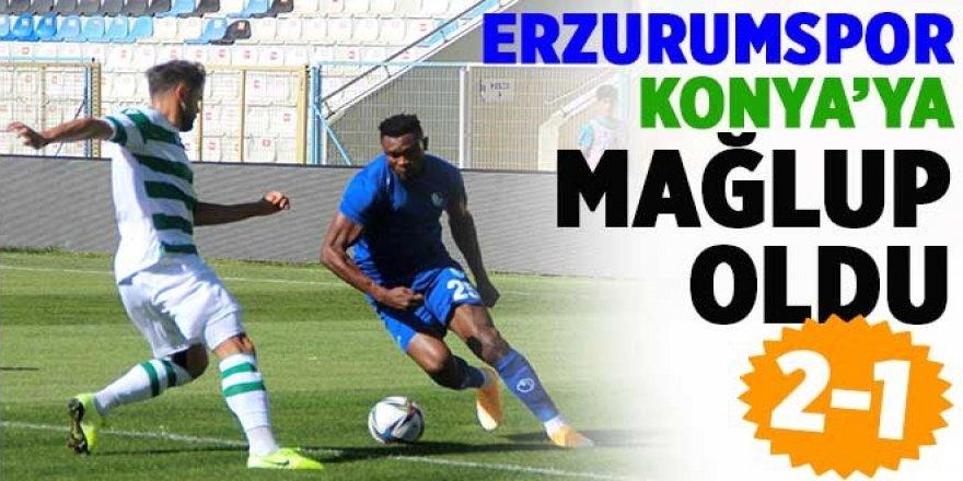 Konyaspor, Erzurumspor'u 2-1 mağlup etti