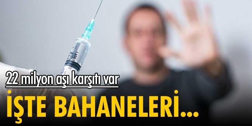 22 milyon aşı karşıtı var! İşte bahaneleri...