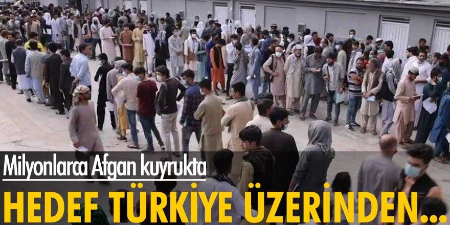 Milyonlarca Afgan kuyrukta!Hedefleri Türkiye üzerinden Almanya'ya ulaşabilmek