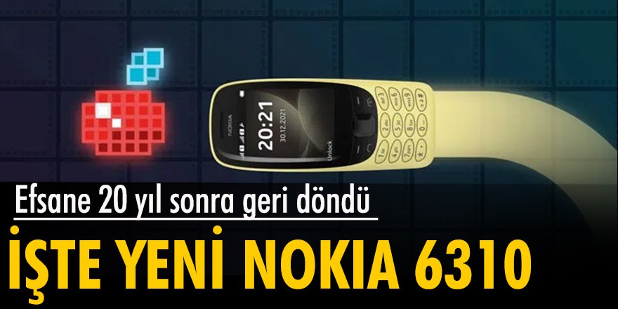 Nokia 6310, 20 yıl sonra geri döndü