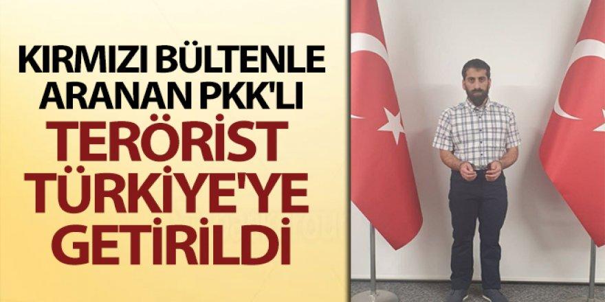 Kırmızı bültenle aranan PKK'lı Türkiye'ye getirildi
