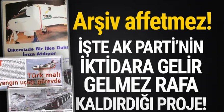 AK Parti'nin iktidara gelir gelmez raftan kaldırdığı proje: Yerli yangın uçağı