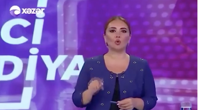 Azeri spikerden tüyleri diken diken eden Türkiye mesajı