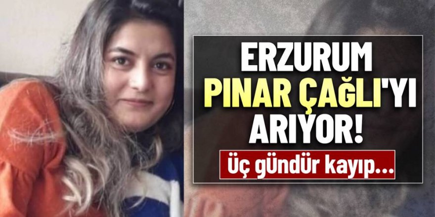 Erzurum'da Pınar'dan 3 gündür haber alınamıyor