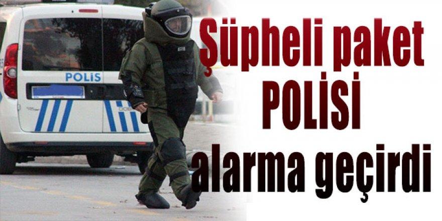Erzurum'da Şüpheli paket polisi alarma geçirdi