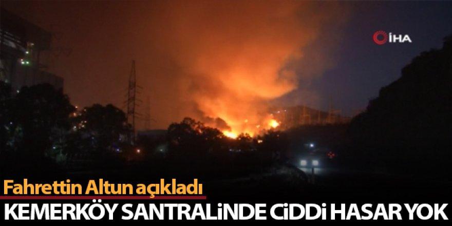 Altun'dan yangında etkilenen Kemerköy termik santrali hakkında açıklama