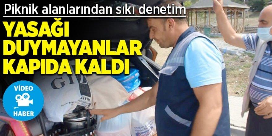 Erzurum'da Yasağı duymayanlar mangalıyla kapıda kaldı