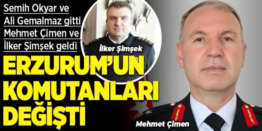 Erzurum'un komutanları değişti