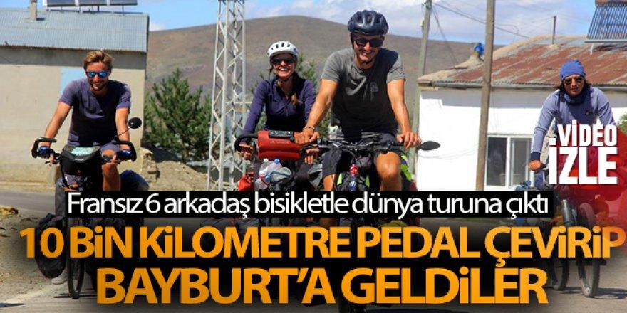 10 bin kilometre pedal çevirip Bayburt'a geldiler