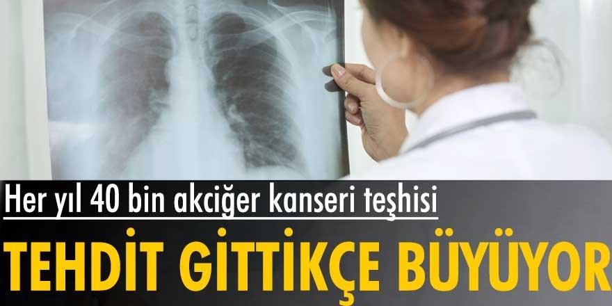 Türkiye'de her yıl 40 bin kişiye akciğer kanseri teşhisi... Tehdit gittikçe büyüyor