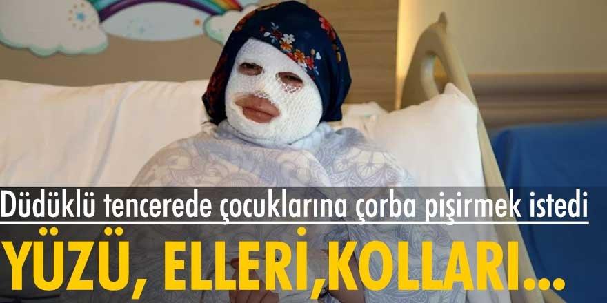 Erzurum'da Düdüklü tencere bomba gibi patladı