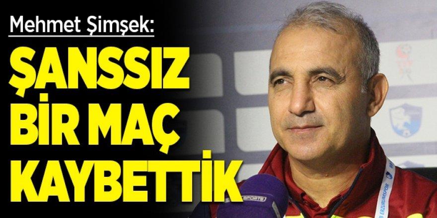 Mehmet Şimşek: Şanssız bir maç kaybettik