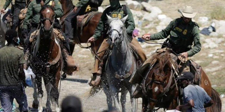 ABD'li askerlerden tepki çeken görüntü! Göçmenleri kırbaçladılar