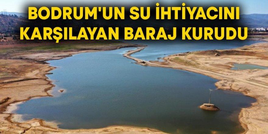 Bodrum'a kötü haber! Su ihtiyacını karşılayan baraj kurudu