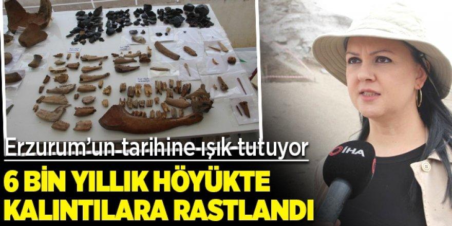 Erzurum'un tarihine ışık tutan 6 bin yıllık höyükte kalıntıları bulundu