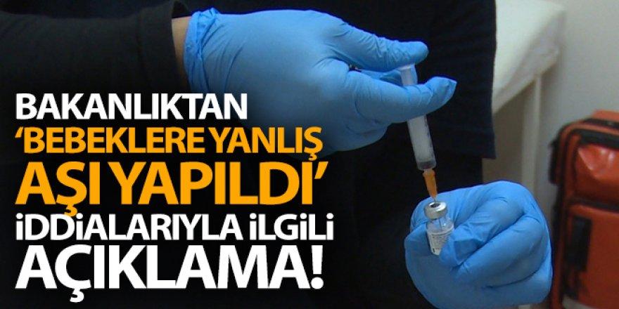 Sağlık Bakanlığı: 'Bebeklere yanlış aşılar yapıldığına ilişkin iddialar kabul edilemez'