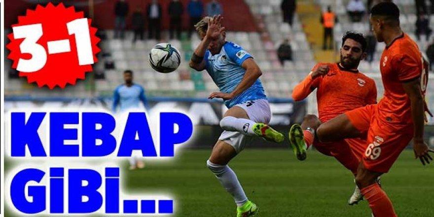 Erzurumspor Adanaspor'u esti geçti: 3-1