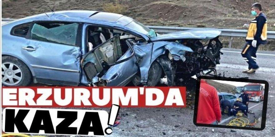 Aşkale'de trafik kazası: 3 yaralı
