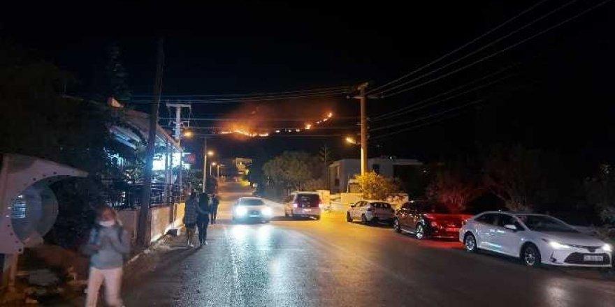 Bodrum'da 2 hektar alan yandı
