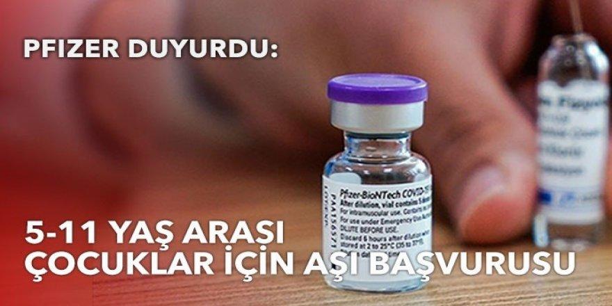 Pfizer'dan 5 ila 11 yaş arası çocuklar için aşı başvurusu