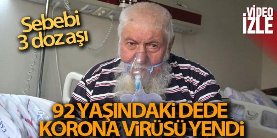 92 yaşındaki Yaşar Güldüren: 'Aşı olduk, kurtulduk'