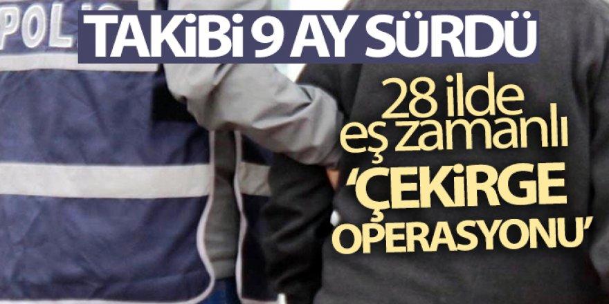 28 ilde eş zamanlı 'Çekirge operasyonu'