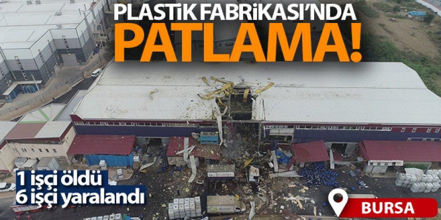 Bursa'da plastik fabrikasında patlama