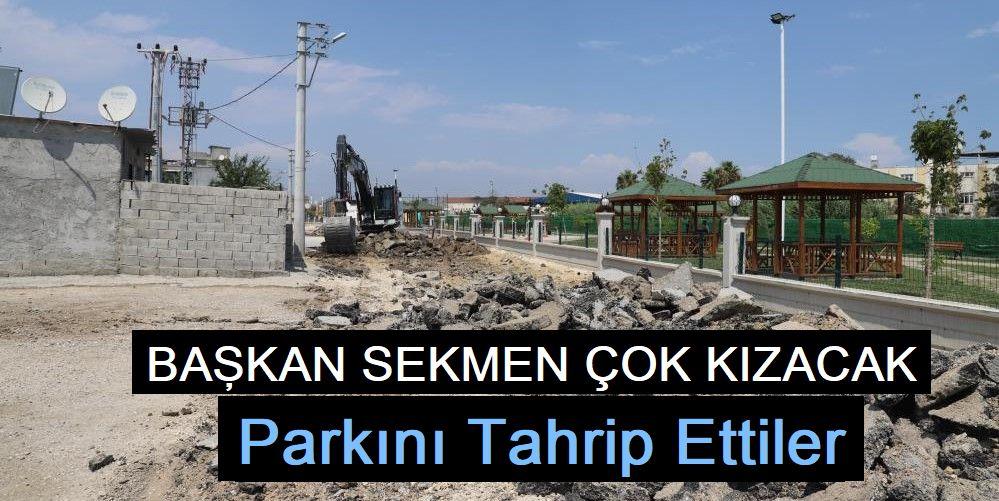 Mersin'de yapımı devam eden 'SEKMEN' parka çirkin saldırı