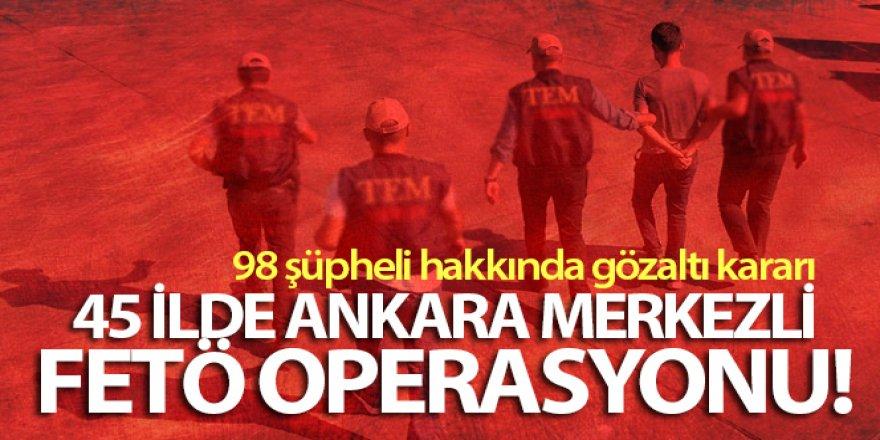 FETÖ'nün Jandarma 'mahrem hizmetler' yapılanmasına 98 gözaltı kararı