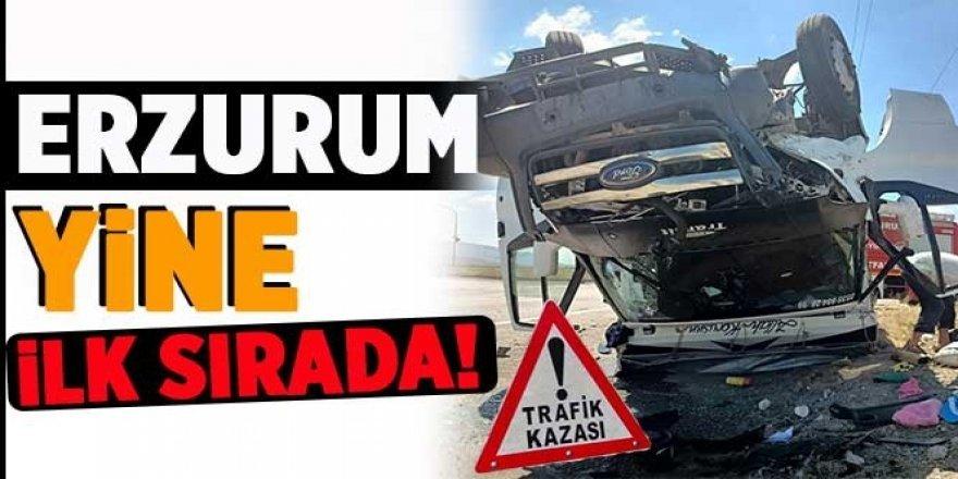 Erzurum'un trafik kazası verileri açıklandı