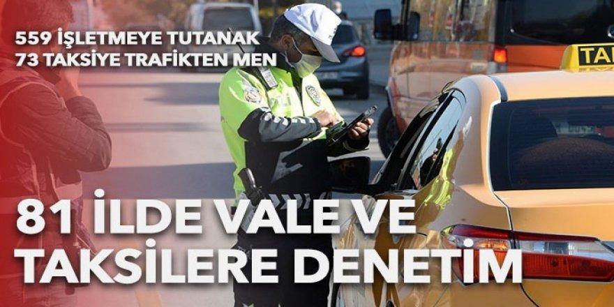 Ülke genelinde vale ve taksi denetimi